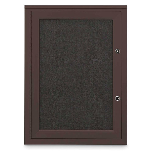 "United Visual Products Corkboard, 18""x24"", Black/Bronze UV401PLUS-BRONZE-BLACK"