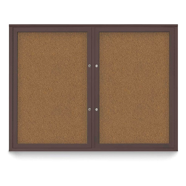 """United Visual Products Corkboard, 48""""x36"""", Synthetic Cork/Bronze UV404PLUS-BRONZE-FORBO"""