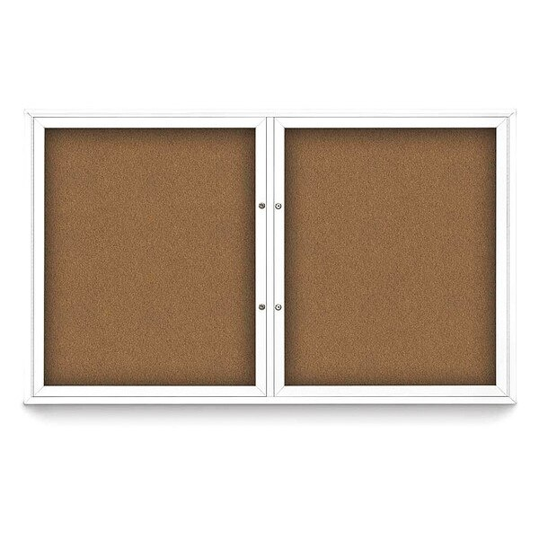 """United Visual Products Corkboard, 60""""x36"""", Synthetic Cork/White UV405PLUS-WHITE-FORBO"""