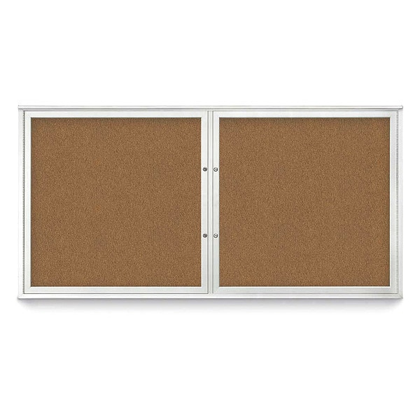 """United Visual Products Corkboard, 72""""x36"""", Synthetic Cork/Satin UV406PLUS-SATIN-FORBO"""