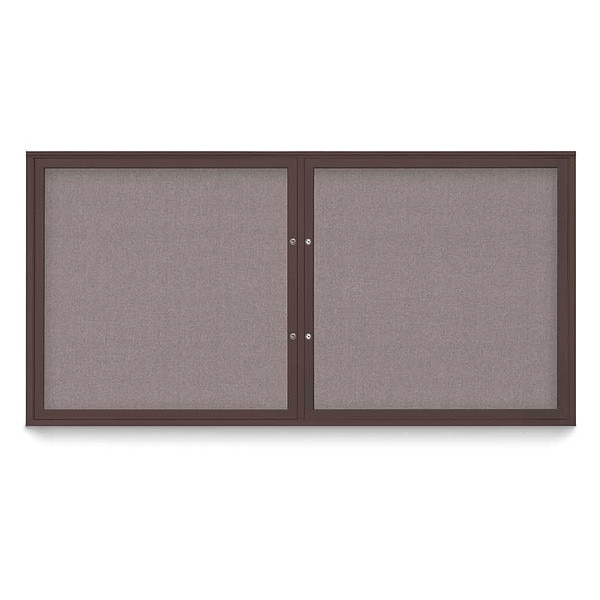 "United Visual Products Corkboard, 72""x36"", Surf/Bronze UV406PLUS-BRONZE-SURF"