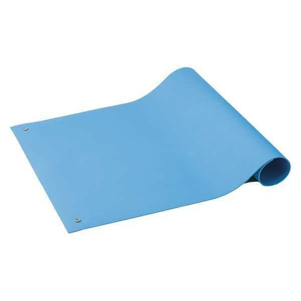 "Acl Staticide ESD Mat, 0.1"" x 24"" x 72"", Light, Blue 6212472"