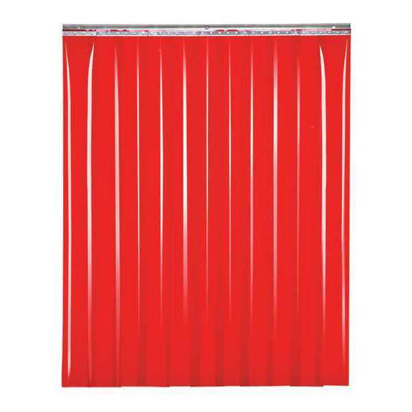 "Tmi Welding Strip Curtain, Red, 6"" W x 6"" H SD60-0806-06"