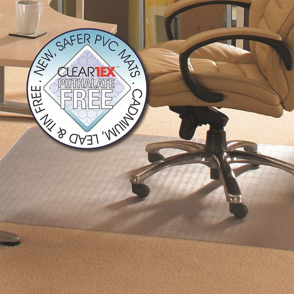 "Cleartex Advantagemat Phthalate Free Mat, LP Carpets, 48""x60"" FRPF1115225EV"