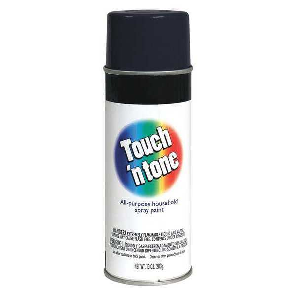Touch'N Tone Spray Paint,  Black,  Flat,  10 oz. 55275830