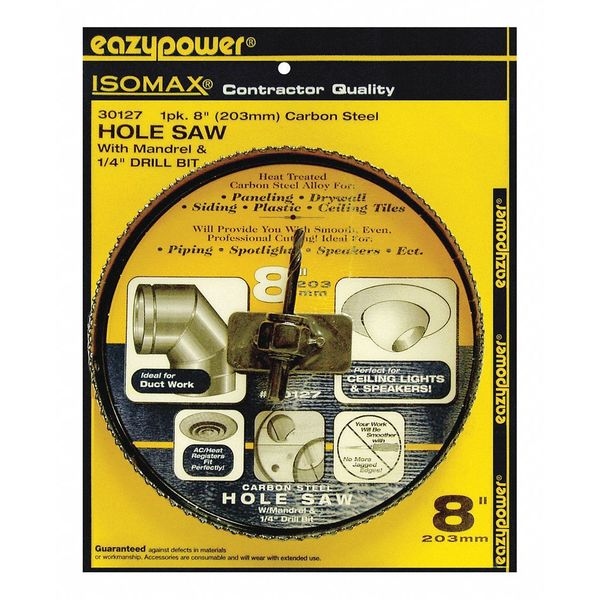 "Eazypower Alloy Hole Saw, 8"" 30127"