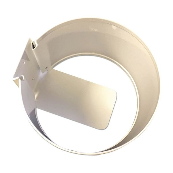 "Nature'S Air Wall Mount Holder, White/Metal, 6""x6""x4"" 101-2U EACH"