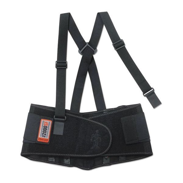 Ergodyne Support, Back, 2000SF, Lg, Black 11284