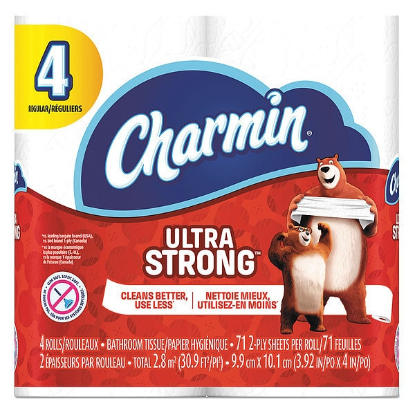 Charmin Ultra Strong Standard Bathroom Tissue,  2 Ply,  77 Sheets,  PK96 94141