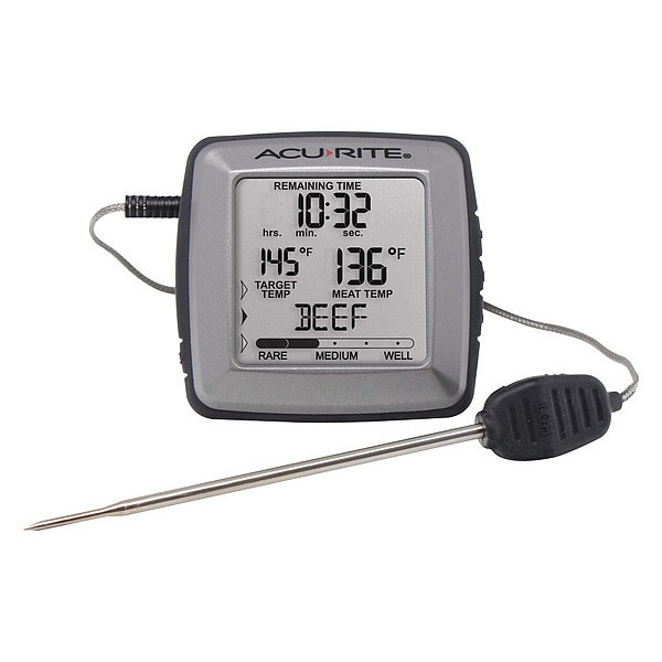 Acurite Digital Meat Thermometer W/ Time Left to Cook 01184M