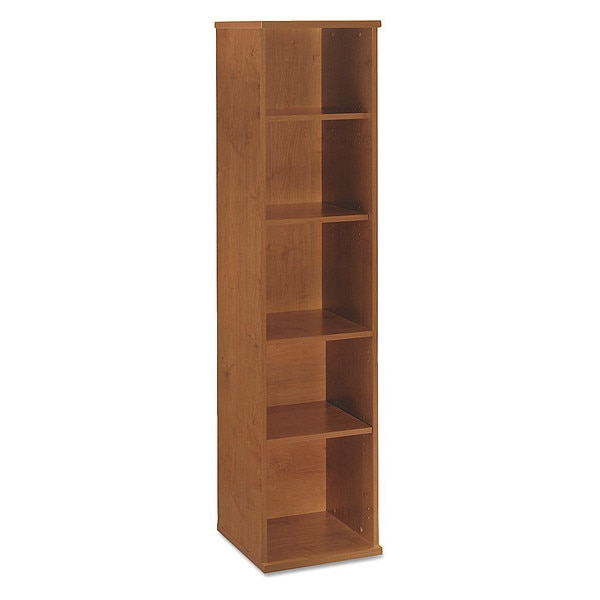 Bush Series C Collection 18W 5 Shelf Bookcase,  Natural Cherry WC72412