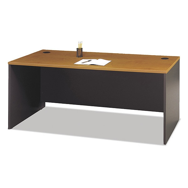 Bush Series C Collection 72W Desk Shell,  Natural Cherry WC72436