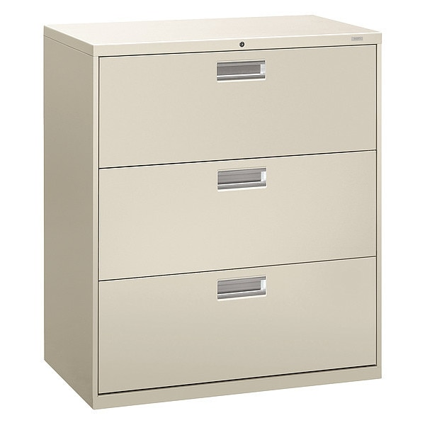 Hon Three-Drawer Lateral File,  36w x 19-1/4d,  Light Gray H683.L.Q