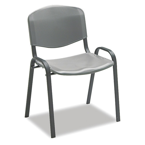 Safco Stacking Chairs,  Charcoal w/Black Frame,  4/Carton 4185CH