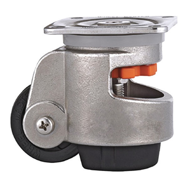 Wmi Leveling Caster,  Load Rating 880lbs,  Plate Mounted,  SS WMS-80F