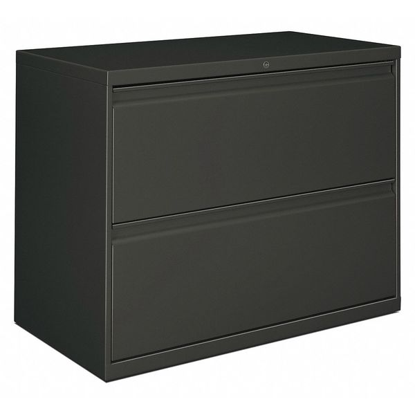 Alera Two-Drawer Lateral File Cabinet,  36w x 18d x 28h,  Charcoal ALELF3629CC
