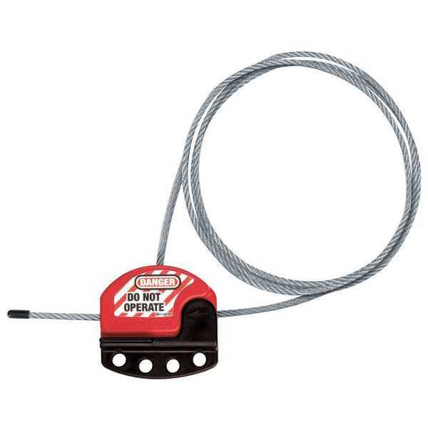 Master Lock Adjustable Cable Lockout,  6ft (1.8m) Cable S806