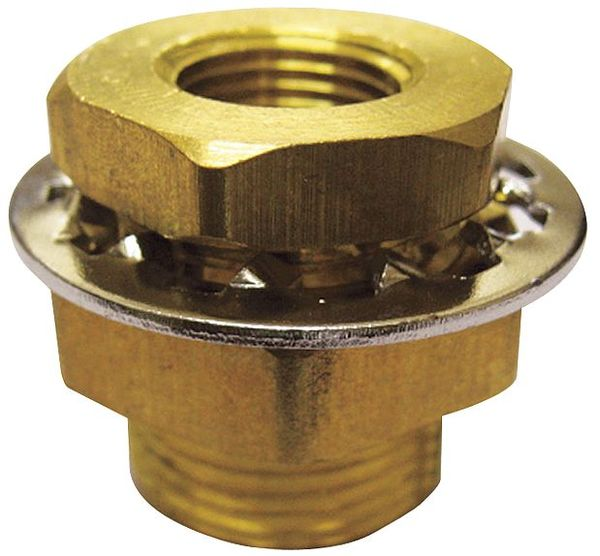 "Zoro Select 3/8"" FNPT Brass Anchor Coupling,  Max. Pressure: 1200 psi 6AZC3"
