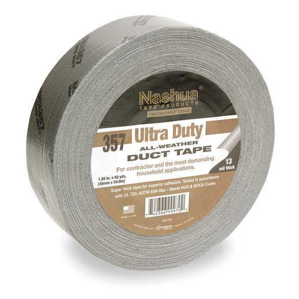Nashua Duct Tape, 48mm x 55m, 13 mil, Silver 357