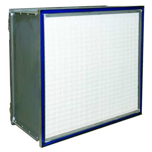 "Air Handler HEPA Air Filter,  12x24x24"",  Air Flow: 1900 cfm 6B620"