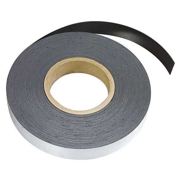 Mag-Mate Flexible Magnet Strip, w/Adhesive, 100ft L MRA060X0100X100