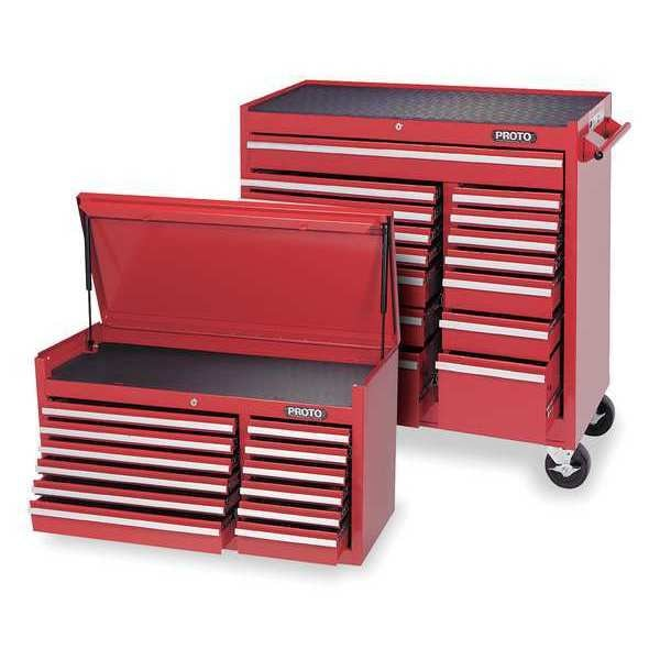 """Proto 41""""W Rolling Cabinet 27 Drawers,  Red,  18""""D x 61""""H 7A039"""