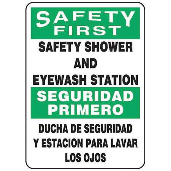 Accuform Spanish-Bilingual Safety First Sign SBMFSD910VP