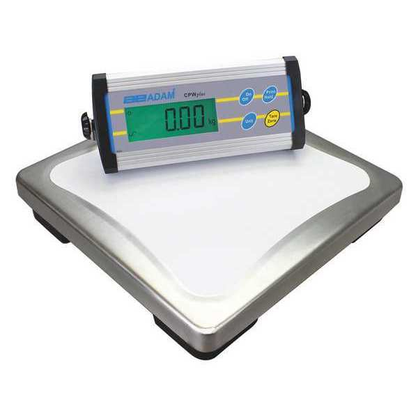 Adam Equipment Digital Platform Bench Scale with Remote Indicator 75 lb./35kg Capacity CPWPLUS35