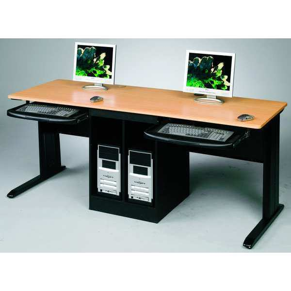 "Balt Workstation Desk ,  24"" X 72"" X 29"" ,  Teak ,  PVC 89844"