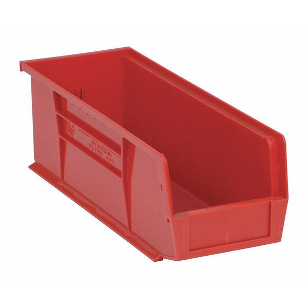 """Quantum Storage Systems Red Hang and Stack Bin,  14-3/4""""L x 5-1/2""""W x 5""""H QUS234RD"""