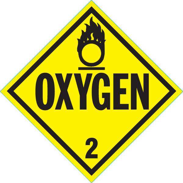 Stranco Inc Vehicle Placard, Oxygen with Pictogram DOTP-0035-PS