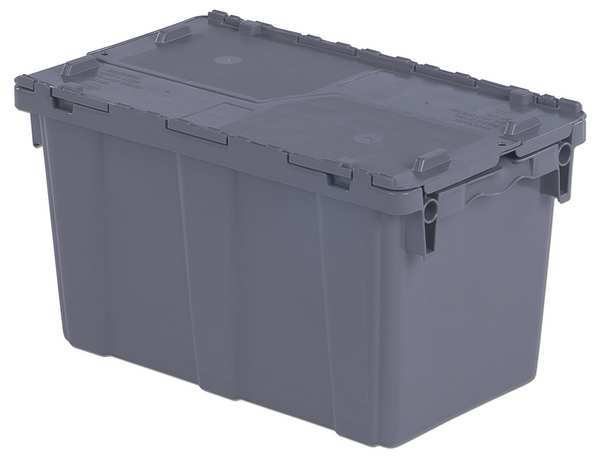 Orbis Attached Lid Container,  1.6 cu. ft.,  Gray FP151 Gray