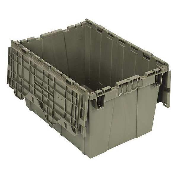 Quantum Storage Systems Attached Lid Container,  1.67 cu. ft.,  Gray QDC2115-12