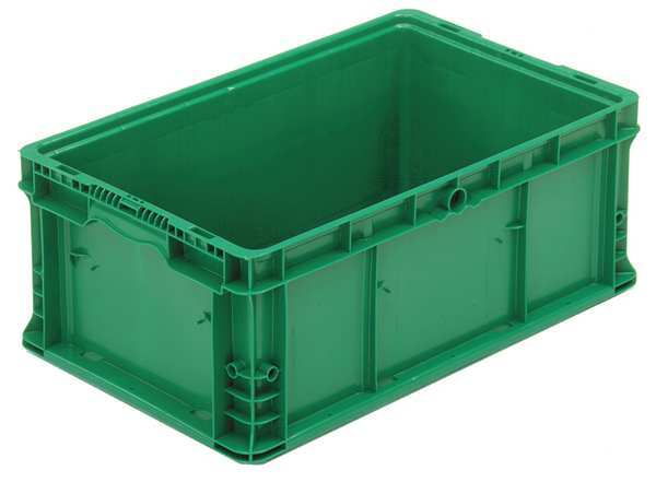 Orbis Green Straight Wall Container 24 in x 15 in x 9 1/2 in H,  1 PK NSO2415-9 Med Green