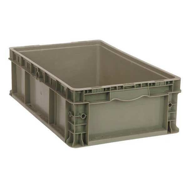 Quantum Storage Systems Gray Straight Wall Container 24 in x 15 in x 9 1/2 in H,  1 PK RSO2415-9
