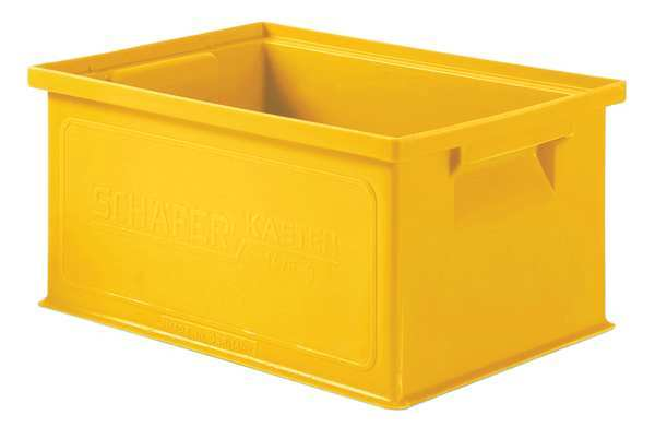 Ssi Schaefer Yellow Straight Wall Container 13 in x 9 in x 6 in H,  1 PK 1463.130906YL1