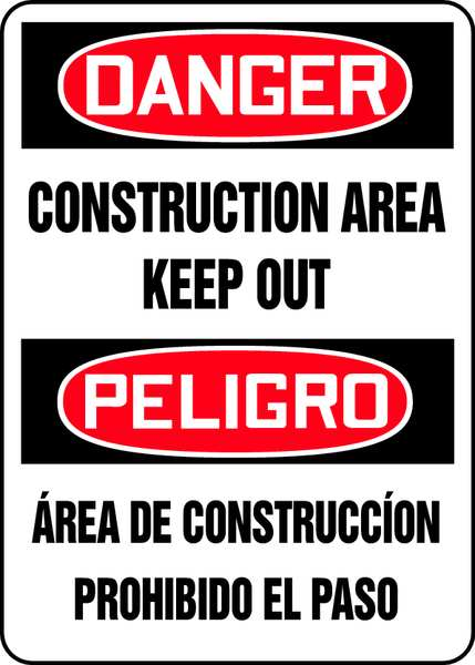 "Accuform Spanish-BilinguAl Danger Sign, 14""X10"" SBMADM014VP"