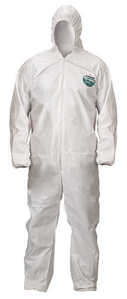 Lakeland Hooded Disposable Coveralls ,  2XL ,  White ,  MicroMax(R) NS ,  zipper CTL428-2X