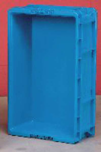 Orbis Blue Straight Wall Container 24 in x 15 in x 5 in H,  1 PK NSO2415-5 BLUE
