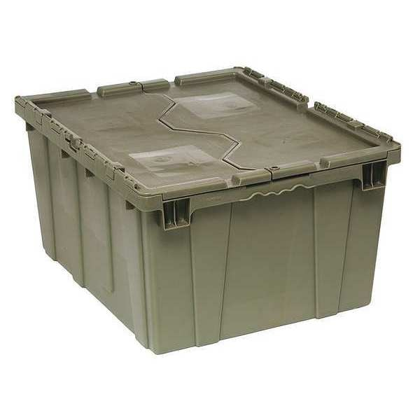 Quantum Storage Systems Attached Lid Container,  4.00 cu. ft.,  Gray QDC2820-15