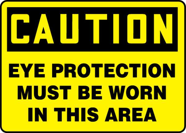 "Accuform Caution Sign, 10X14"", BK/Yel, Plstc, Eng MPPA606VP"