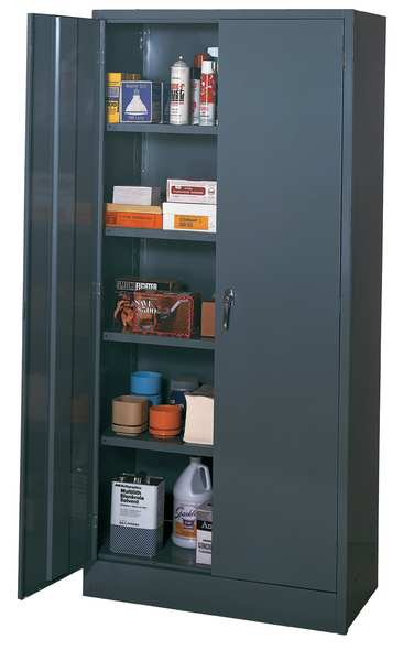 Edsal Storage Cabinet, Gray, 78 In. H, 36 In. W 3001