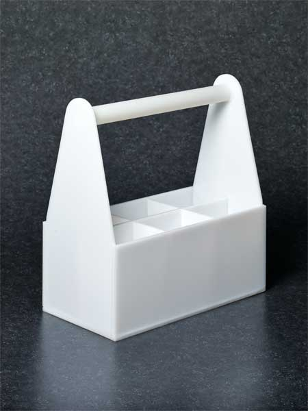 Sp Scienceware Bottle Carrier, White 4-1/2x3-3/8 80016-0198