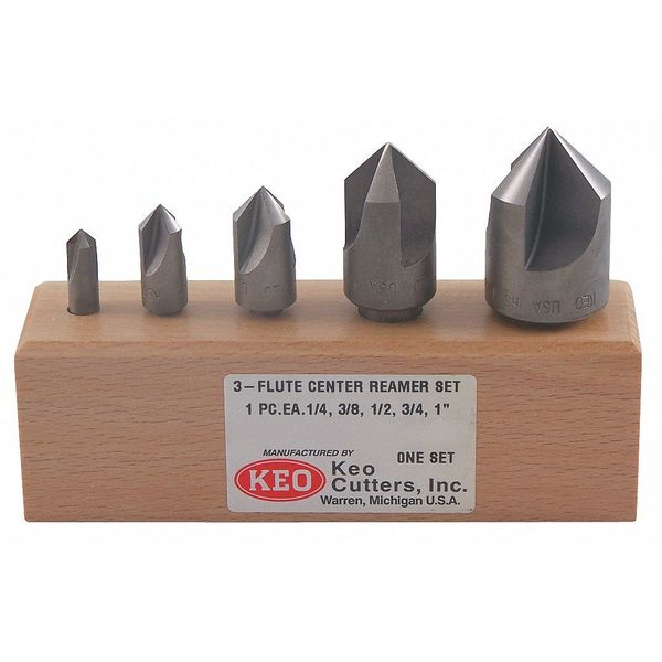 Keo Countersink Set, 5 PC, 1 FL, 60 Deg, Carbide 55709