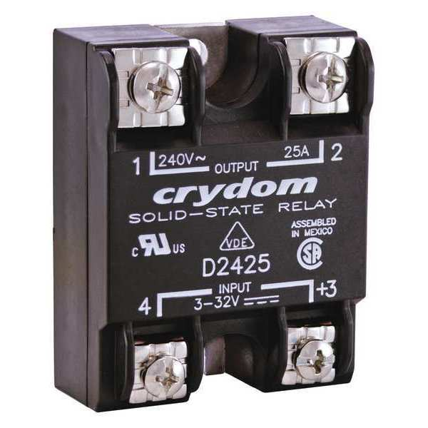 Crydom Solid State Relay, 3 to 32VDC, 90A D2490-10
