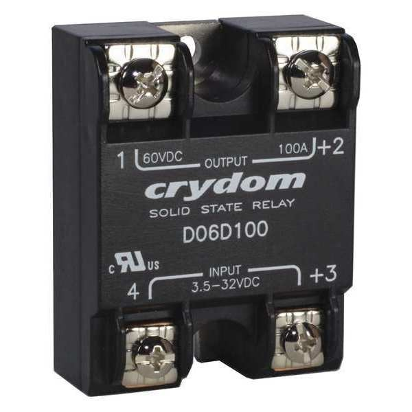 Crydom Solid State Relay, 3.5 to 32VDC, 60A D06D60