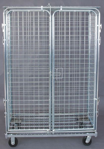 Gav Wire Security Cart with Fixed Shelves 1,800 lb Capacity,  24 in W x 1ECG6