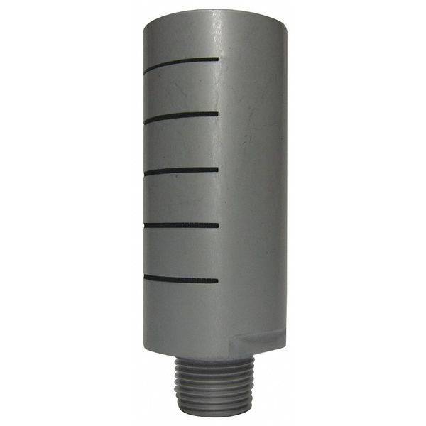 Speedaire Silencer Muffler, 3/8 In. NPT, 1 In. Hex 1EJW8