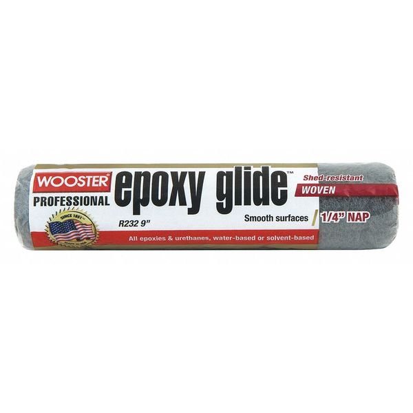 Wooster Paint Roller Cover, 9 In, Nap 1/4 In R232-9