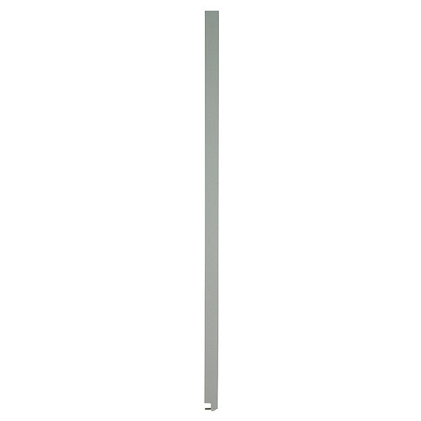 """Global Partitions 82"""" x 22"""" Pilaster Toilet Partition,  Solid Polymer,  Gray 65-M087229-9200"""